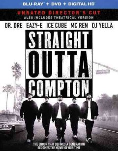Straight outta Compton /  Universal Pictures and Legendary Pictures present in association with New Line Cinema/Cubevision/Crucial Films a Broken Chair Flickz production ; produced by Ice Cube [and five others] ; screenplay by Jonathan Herman and Andrea Berloff ; directed by Gary Gray. - Universal Pictures and Legendary Pictures present in association with New Line Cinema/Cubevision/Crucial Films a Broken Chair Flickz production ; produced by Ice Cube [and five others] ; screenplay by Jonathan Herman and Andrea Berloff ; directed by Gary Gray.
