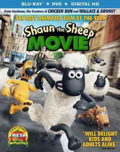 Shaun the sheep movie /  Lionsgate Studiocanal and Aardman Animations present in association with Anton Capital Entertainment and Aardman ; directed and written by Mark Burton, Richard Starzak ; produced by Julie Lockhart, Paul Kewley. - Lionsgate Studiocanal and Aardman Animations present in association with Anton Capital Entertainment and Aardman ; directed and written by Mark Burton, Richard Starzak ; produced by Julie Lockhart, Paul Kewley.