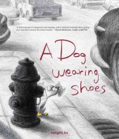 A dog wearing shoes /  Sangmi Ko. - Sangmi Ko.