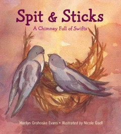 Spit and sticks : a chimney full of swifts / Marilyn Grohoske Evans ; illustrated by Nicole Gsell. - Marilyn Grohoske Evans ; illustrated by Nicole Gsell.