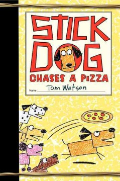 Stick Dog chases a pizza - by Tom Watson.