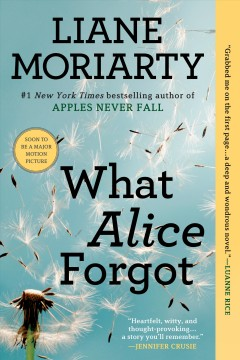 What Alice forgot  /  Liane Moriarty. - Liane Moriarty.