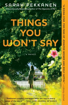 Things you won't say : a novel / Sarah Pekkanen. - Sarah Pekkanen.
