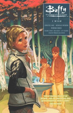 Buffy the vampire slayer season 10 Volume 2, I wish /  script, chapters 1, 3-5, Christos Gage ; script, chapter 2, Christos Gage & Nicholas Brendon ; pencils, chapter 1, Cliff Richards & Karl Moline ; inks, chapter 1, Andy Owens ; art, chapters 2-5, Rebekah Isaacs & Richard Corben (pages 60-62) ; colors, Dan Jackson & Beth Corben Reed with Richard Corben (pages 60-62) ; letters, Richard Starkings & Comicraft's Jimmy Betancourt. - script, chapters 1, 3-5, Christos Gage ; script, chapter 2, Christos Gage & Nicholas Brendon ; pencils, chapter 1, Cliff Richards & Karl Moline ; inks, chapter 1, Andy Owens ; art, chapters 2-5, Rebekah Isaacs & Richard Corben (pages 60-62) ; colors, Dan Jackson & Beth Corben Reed with Richard Corben (pages 60-62) ; letters, Richard Starkings & Comicraft's Jimmy Betancourt.