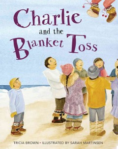 Charlie and the blanket toss - by Tricia