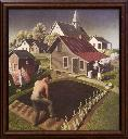 Spring in town /Grant Wood. - Wood, Grant, 1891-1942.