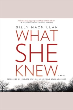 What she knew : a novel / Gilly MacMillan. - Gilly MacMillan.