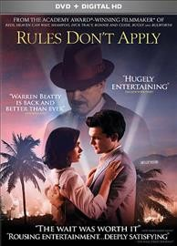 Rules don't apply /  Regency Enterprises and RatPac Entertainment present ; in association with Worldview Entertainment Partners, Considered Entertainment, Robson Orr Entertainment, Shangri-La Entertainment, Fiore Group, Demarest Films, Windsor Media, Tatira ; produced and directed by Warren Beatty ; screenplay by Warren Beatty ; story by Warren Beatty and Bo Goldman ; produced by Arnon Milchan, Brett Ratner, James Packer, Steve Bing, Ron Burkle, Frank Giustra, Steven Mnuchin, Sybil Robson Orr, Terry Semel, Jeffrey Soros, William D. Johnson, Christopher Woodrow, Molly Conners, Sarah E. Johnson, Jonathan McCoy. - Regency Enterprises and RatPac Entertainment present ; in association with Worldview Entertainment Partners, Considered Entertainment, Robson Orr Entertainment, Shangri-La Entertainment, Fiore Group, Demarest Films, Windsor Media, Tatira ; produced and directed by Warren Beatty ; screenplay by Warren Beatty ; story by Warren Beatty and Bo Goldman ; produced by Arnon Milchan, Brett Ratner, James Packer, Steve Bing, Ron Burkle, Frank Giustra, Steven Mnuchin, Sybil Robson Orr, Terry Semel, Jeffrey Soros, William D. Johnson, Christopher Woodrow, Molly Conners, Sarah E. Johnson, Jonathan McCoy.