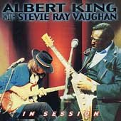 In session /  Albert King with Stevie Ray Vaughan.