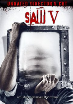 Saw V /  A Lionsgate release, Twisted Pictures presents a Burg/Koules/Hoffman production ; produced by Gregg Hoffman, Mark Burg, Oren Koules ; screenplay by Patrick Melton & Marcus Dunstan ; directed by David Hackl. - A Lionsgate release, Twisted Pictures presents a Burg/Koules/Hoffman production ; produced by Gregg Hoffman, Mark Burg, Oren Koules ; screenplay by Patrick Melton & Marcus Dunstan ; directed by David Hackl.