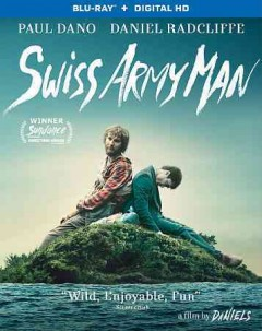 Swiss army man /  an A24 release ; Tadmor and Astrakan Film AB present ; a Cold Iron Pictures/Blackbird Films production ; in association with Company 3 & Method Studios ; a film by Daniels ; written & directed by Daniel Scheinert & Daniel Kwan ; produced by Lawrence Inglee, Jonathan Wang, Miranda Bailey, Amanda Marshall, Eyal Rimmon, Lauren Mann. - an A24 release ; Tadmor and Astrakan Film AB present ; a Cold Iron Pictures/Blackbird Films production ; in association with Company 3 & Method Studios ; a film by Daniels ; written & directed by Daniel Scheinert & Daniel Kwan ; produced by Lawrence Inglee, Jonathan Wang, Miranda Bailey, Amanda Marshall, Eyal Rimmon, Lauren Mann.