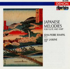 Japanese melodies for flute and harp.