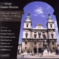Chamber works for winds and strings by Mozart.