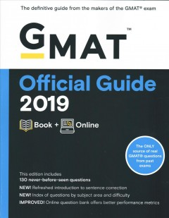 GMAT official guide 2019 : book + online / Graduate Management Admission Council. - Graduate Management Admission Council.