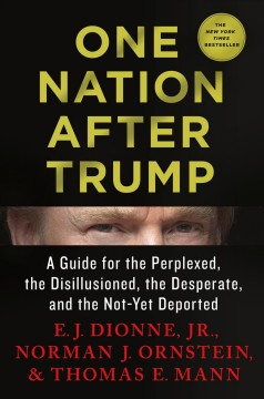 One nation after Trump : a guide for the perplexed, the disillusioned, the desperate, and the not-yet deported / E.J. Dionne, Jr., Norman J. Ornstein, and Thomas E. Mann. - E.J. Dionne, Jr., Norman J. Ornstein, and Thomas E. Mann.
