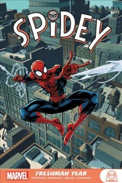 Spidey.  writer, Robbie Thompson ; artists, Nick Bradshaw (#1-3), André Lima Araújo (#4-7) & Nathan Stockman (#8-12) ; color artists, Jim Campbell (#1-3, #5-12) & Rachelle Rosenberg (#3-4), with Java Tartaglia (#5) ; letterer, VC's Travis Lanham ; cover art, Nick Bradshaw & Jim Campbell (#1-4, #6), André Lima Araújo & Jim Campbell (#5) and Khary Randolph & Emilio Lopez (#7-12). - writer, Robbie Thompson ; artists, Nick Bradshaw (#1-3), André Lima Araújo (#4-7) & Nathan Stockman (#8-12) ; color artists, Jim Campbell (#1-3, #5-12) & Rachelle Rosenberg (#3-4), with Java Tartaglia (#5) ; letterer, VC's Travis Lanham ; cover art, Nick Bradshaw & Jim Campbell (#1-4, #6), André Lima Araújo & Jim Campbell (#5) and Khary Randolph & Emilio Lopez (#7-12).
