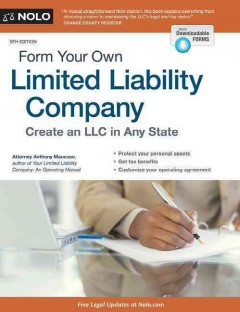 Form your own limited liability company /  Anthony Mancuso. - Anthony Mancuso.