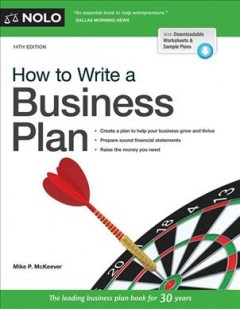 How to write a business plan /  Mike P. McKeever. - Mike P. McKeever.