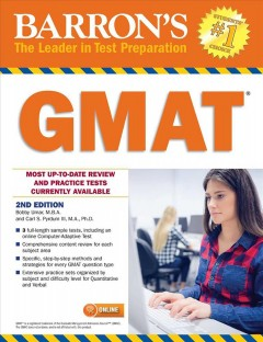 Barron's GMAT /  Bobby Umar, M.B.A., GMAT Instructor and Consultant President, Raeallan Leadership Speaking and Training Toronto, Canada, Carl S. Pyrdum, III,  M.A., Ph.D., GMAT Tutor Ivory Tower Tutoring Atlanta, Georgia. - Bobby Umar, M.B.A., GMAT Instructor and Consultant President, Raeallan Leadership Speaking and Training Toronto, Canada, Carl S. Pyrdum, III,  M.A., Ph.D., GMAT Tutor Ivory Tower Tutoring Atlanta, Georgia.