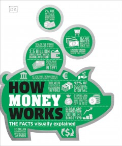 How money works : the facts visually explained / contributors, Beverly Harzog (consultant and writer), Marianne Curphey, Emma Lunn, James Meadway, Philip Parker, Alexandra Black. - contributors, Beverly Harzog (consultant and writer), Marianne Curphey, Emma Lunn, James Meadway, Philip Parker, Alexandra Black.