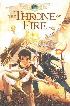 The throne of fire : the graphic novel / Rick Riordan ; adapted and illustrated by Orpheus Collar ; additional illustration by Cam Floyd ; color flatting by Aladdin Collar ; lettered by Chris Dickey. - Rick Riordan ; adapted and illustrated by Orpheus Collar ; additional illustration by Cam Floyd ; color flatting by Aladdin Collar ; lettered by Chris Dickey.
