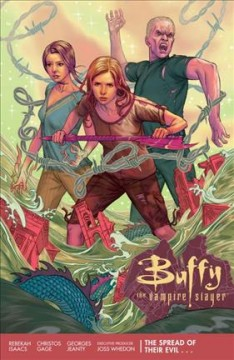 Buffy the vampire slayer : season 11 Volume 1, script, Christos Gage ; art, chapters 1-3, 6, Rebekah Isaacs ; pencils, chapters 4-5, Georges Jeanty ; inks, chapters 4-5, Dexter Vines ; colors, Dan Jackson ; letters, Richard Starkings & Comicraft's Jimmy Betancourt ; cover and chapter break art, Steve Morris. - script, Christos Gage ; art, chapters 1-3, 6, Rebekah Isaacs ; pencils, chapters 4-5, Georges Jeanty ; inks, chapters 4-5, Dexter Vines ; colors, Dan Jackson ; letters, Richard Starkings & Comicraft's Jimmy Betancourt ; cover and chapter break art, Steve Morris.