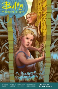 Buffy the vampire slayer  season 11 Volume 2, One girl in all the world /  script, Christos Gage ; art, chapters 1-2, 5-6, Rebekah Isaacs ; pencils, chapters 3, Georges Jeanty ; inks, chapter 3, Dexter Vines ; art, chapter 4, Megan Levens ; colors, Dan Jackson ; letters, Richard Starkings & Comicraft's Jimmy Betancourt ; cover and chapter break art, Steve Morris. - script, Christos Gage ; art, chapters 1-2, 5-6, Rebekah Isaacs ; pencils, chapters 3, Georges Jeanty ; inks, chapter 3, Dexter Vines ; art, chapter 4, Megan Levens ; colors, Dan Jackson ; letters, Richard Starkings & Comicraft's Jimmy Betancourt ; cover and chapter break art, Steve Morris.