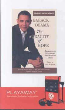 The audacity of hope : thoughts on reclaiming the American dream / Barack Obama. - Barack Obama.