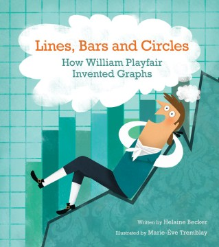 Lines, bars and circles : how William Playfair invented graphs / written by Helaine Becker ; illustrated by Marie-Ève Tremblay. - written by Helaine Becker ; illustrated by Marie-Ève Tremblay.