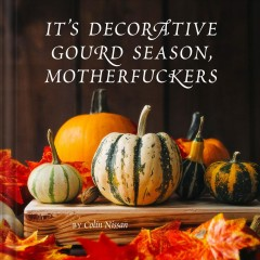 It's decorative gourd season, motherfuckers /  by Colin Nissan. - by Colin Nissan.