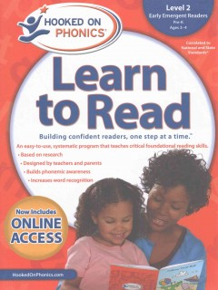 Hooked on phonics. Learn to read, Early emergent readers, Level 2, Pre-K, ages 3-4.
