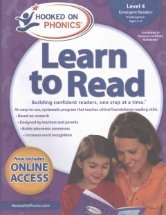 Hooked on phonics. Learn to read, Emergent readers, Level 3, Kindergarten, ages 4-6.