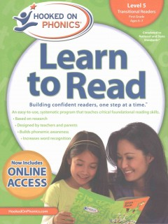 Hooked on phonics. Learn to read, Transitional readers, Level 5, First grade, ages 6-7.