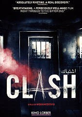 Clash = 'Ištibāk / a coproduction Film Clinic [and 4 others] ; directed by Mohamed Diab ; written by Khaled Diab and Mohamed Diab ; produced by Moez Masoud, Mohamed Hefzy, Eric Lagesse.
