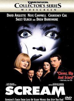 Scream /  a Woods Entertainment production ; a Dimension Films presentation ; directed by Wes Craven ; written by Kevin Williamson ; produced by Cary Woods and Cathy Konrad.