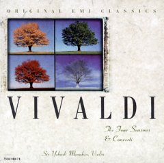 The four seasons, op. 8, no. 1-4 ; Concerto in D minor for 2 violins & cello, op. 3, no. 11 ; Concerto in C minor for 2 violins, RV 510 ; Concerto in D major for 4 violins, op. 3, no. 1 /  Vivaldi.