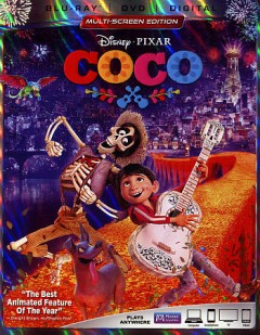 Coco [2-disc set] /  Disney presents a Pixar Animation Studios film ; produced by Darla K. Anderson ; screenplay by Adrian Molina, Matthew Aldrich ; directed by Lee Unkrich, Andrew Molina. - Disney presents a Pixar Animation Studios film ; produced by Darla K. Anderson ; screenplay by Adrian Molina, Matthew Aldrich ; directed by Lee Unkrich, Andrew Molina.