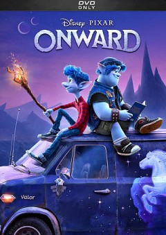 Onward /  Disney ; Pixar ; directed by Dan Scanlon ; produced by Kori Rae ; original story by Dan Scanlon, Keith Bunin, Jason Headley ; screenplay by Dan Scanlon, Jason Headley, Keith Bunin ; created & produced at Pixar Animation Studios.