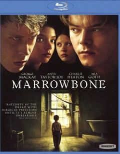 Marrowbone /  Mediaset España presents ; a Telecinco Cinema, Marrowbone, Ruidos én el Ático, AIE production ; produced by Beĺén Atienza, Álvaro Augustín, Ghislain Barrois ; written and directed by Sergio G. Sánchez. - Mediaset España presents ; a Telecinco Cinema, Marrowbone, Ruidos én el Ático, AIE production ; produced by Beĺén Atienza, Álvaro Augustín, Ghislain Barrois ; written and directed by Sergio G. Sánchez.