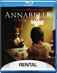 Annabelle.  New Line Cinema presents an Atomic Monster/Safran Company production ; produced by Peter Safran, James Wan ; written by Gary Dauberman ; directed by David F. Sandberg. - New Line Cinema presents an Atomic Monster/Safran Company production ; produced by Peter Safran, James Wan ; written by Gary Dauberman ; directed by David F. Sandberg.