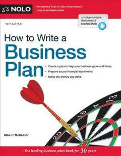 How to write a business plan /  Mike P. McKeever.