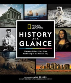 National Geographic illustrated time lines of history.