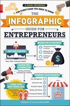 The infographic guide to entrepreneurs : a visual reference for everything you need to know / Carissa Lytle and Jara Kern. - Carissa Lytle and Jara Kern.