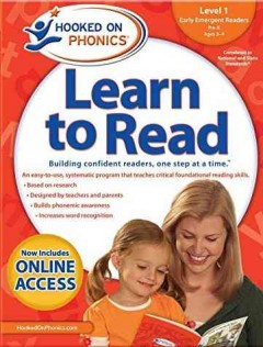 Hooked on phonics. Learn to read, Early emergent readers, Level 1, Pre-K, ages 3-4.